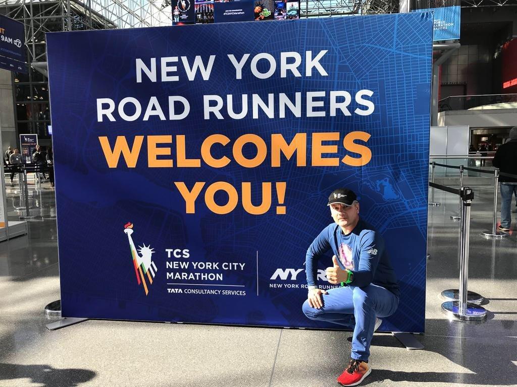 Andrzej Stefańczyk w Nowym Jorku przed biegiem w maratonie