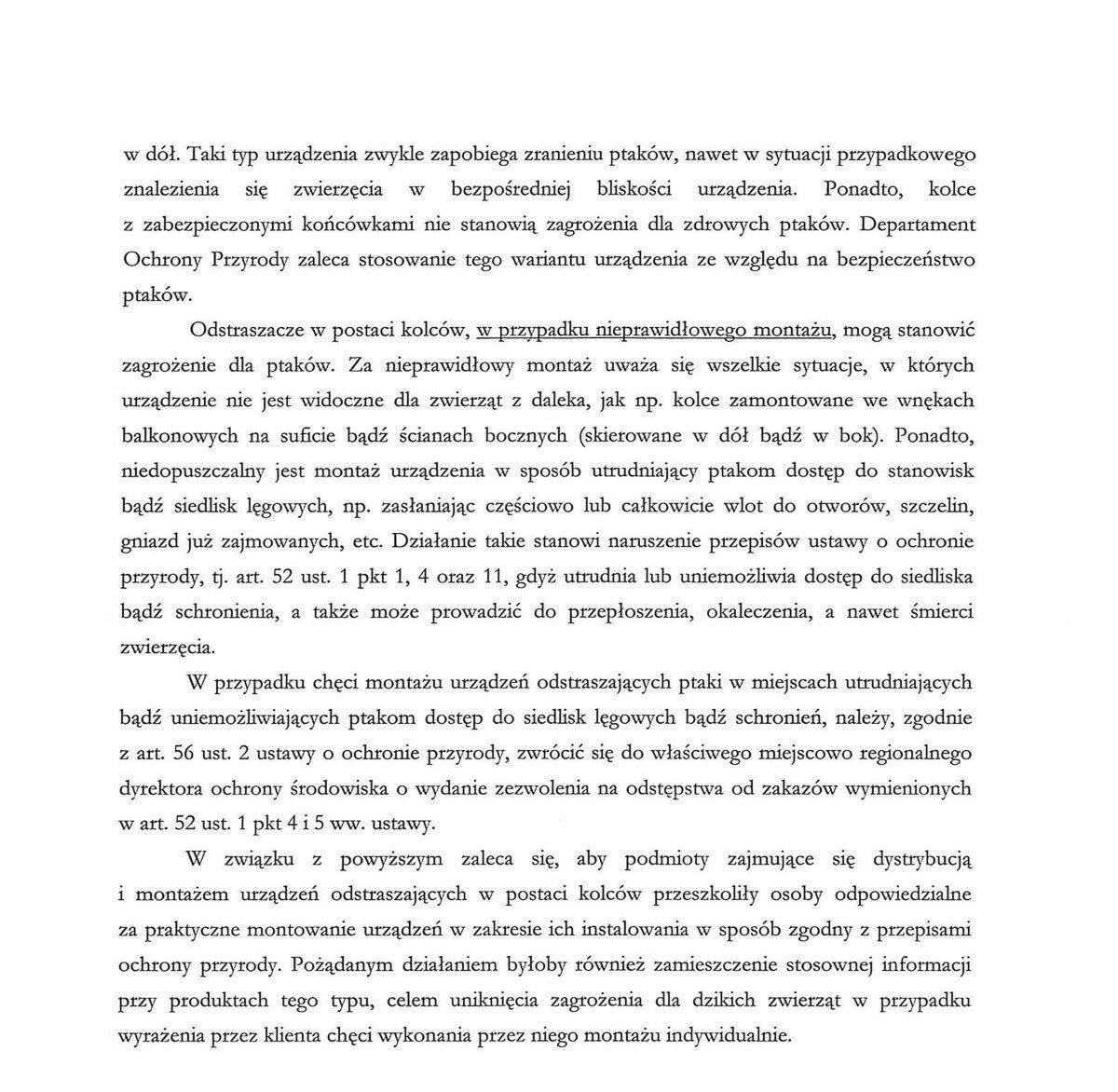 Pismo Generalnego Dyrektora Ochrony Środowiska z-index: 0