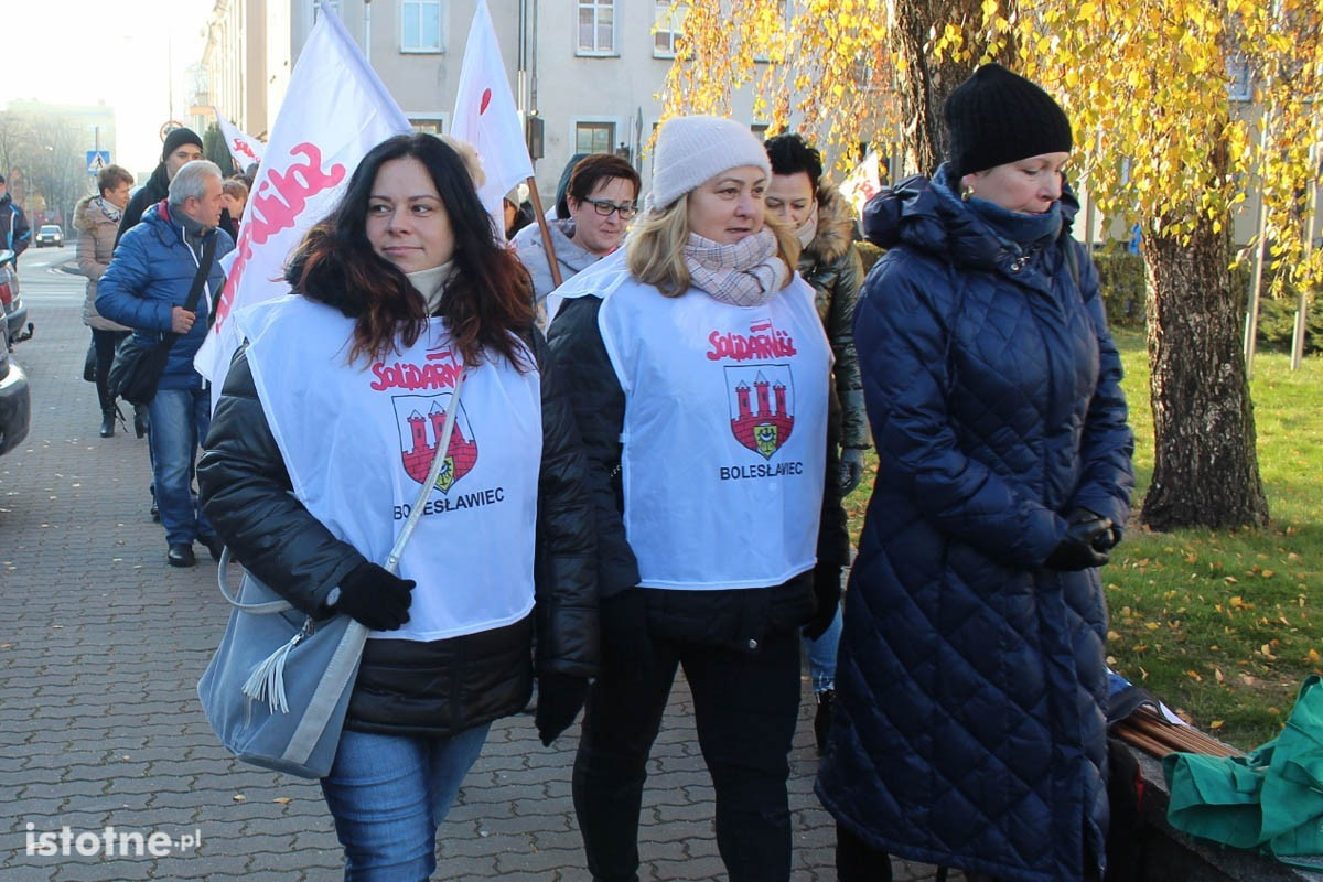 Pikieta przed firmą Gerresheimer w Bolesławcu