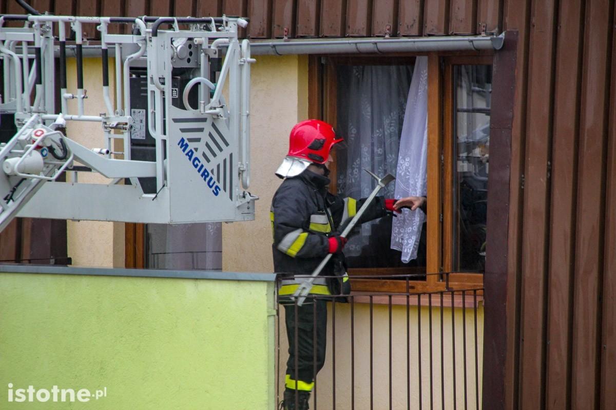 Akcja strażaków przy ul. Wańkowicza