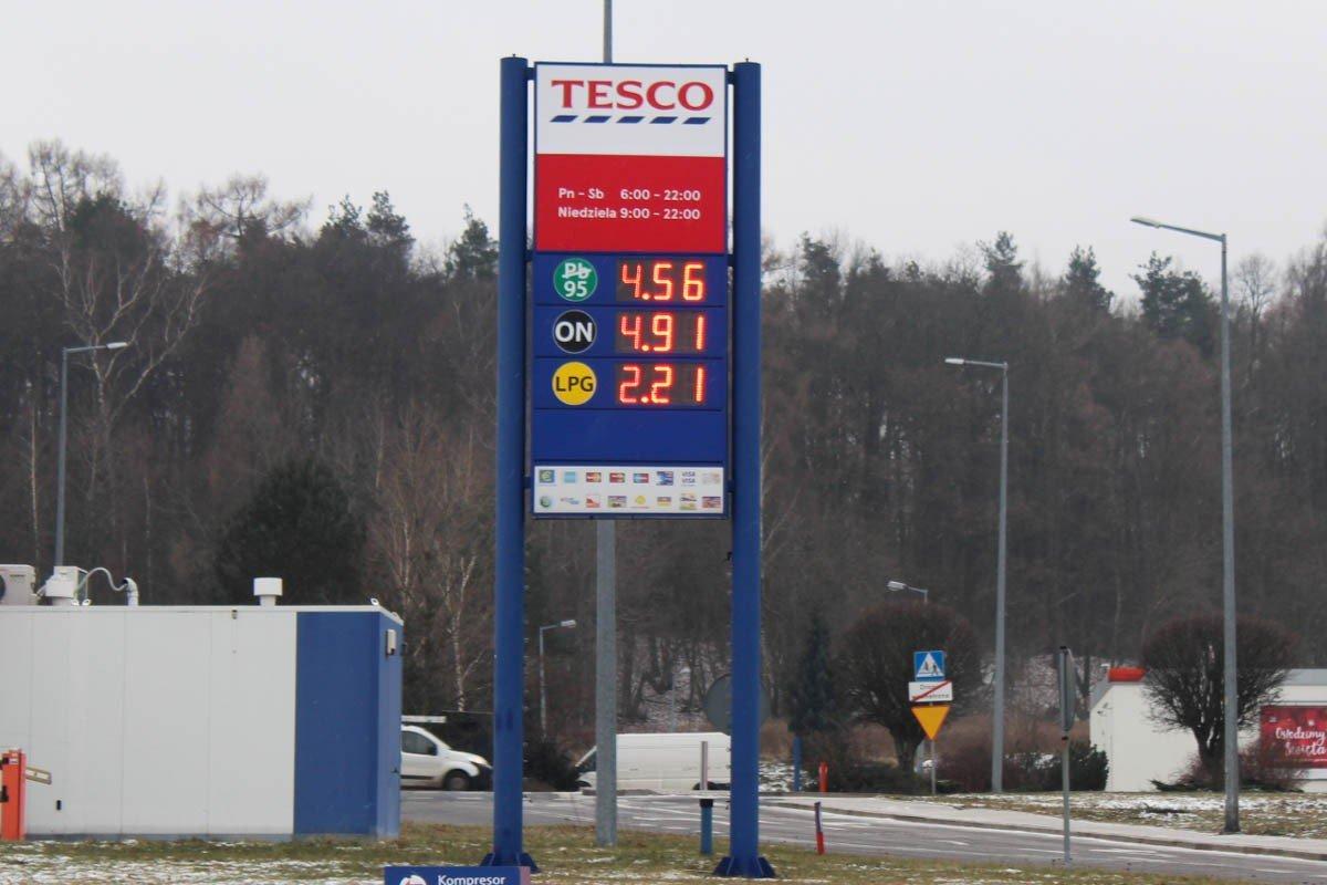 Ceny na stacjach paliw w Bolesławcu 25.01.2019 r.