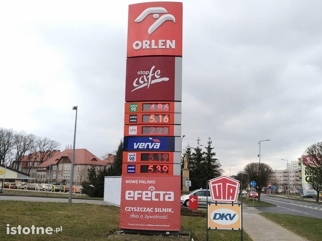 Ceny na stacjach paliw w Bolesławcu. 15 lutego 2019 roku