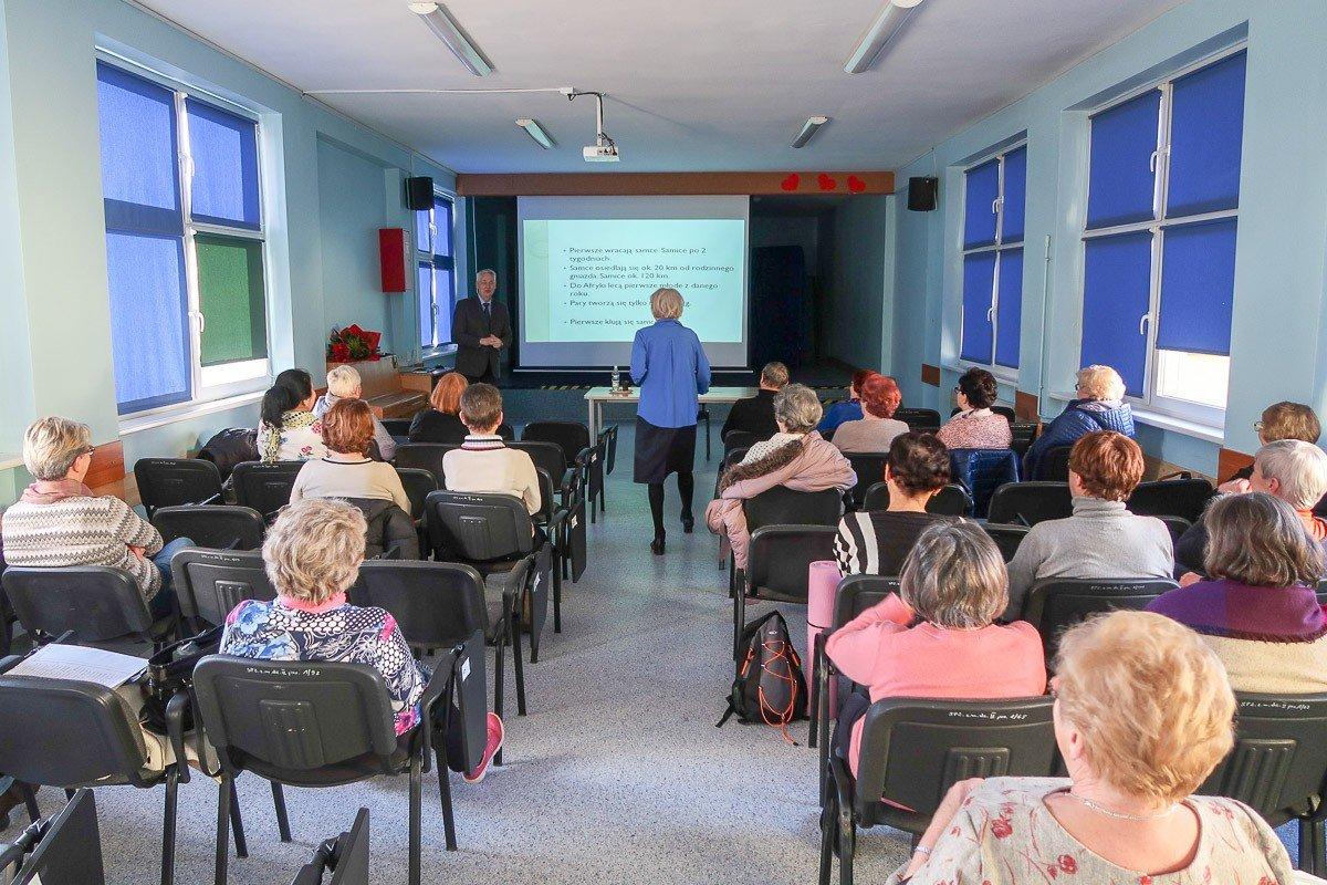 Wykład o bocianach na Uniwersytecie Trzeciego Wieku