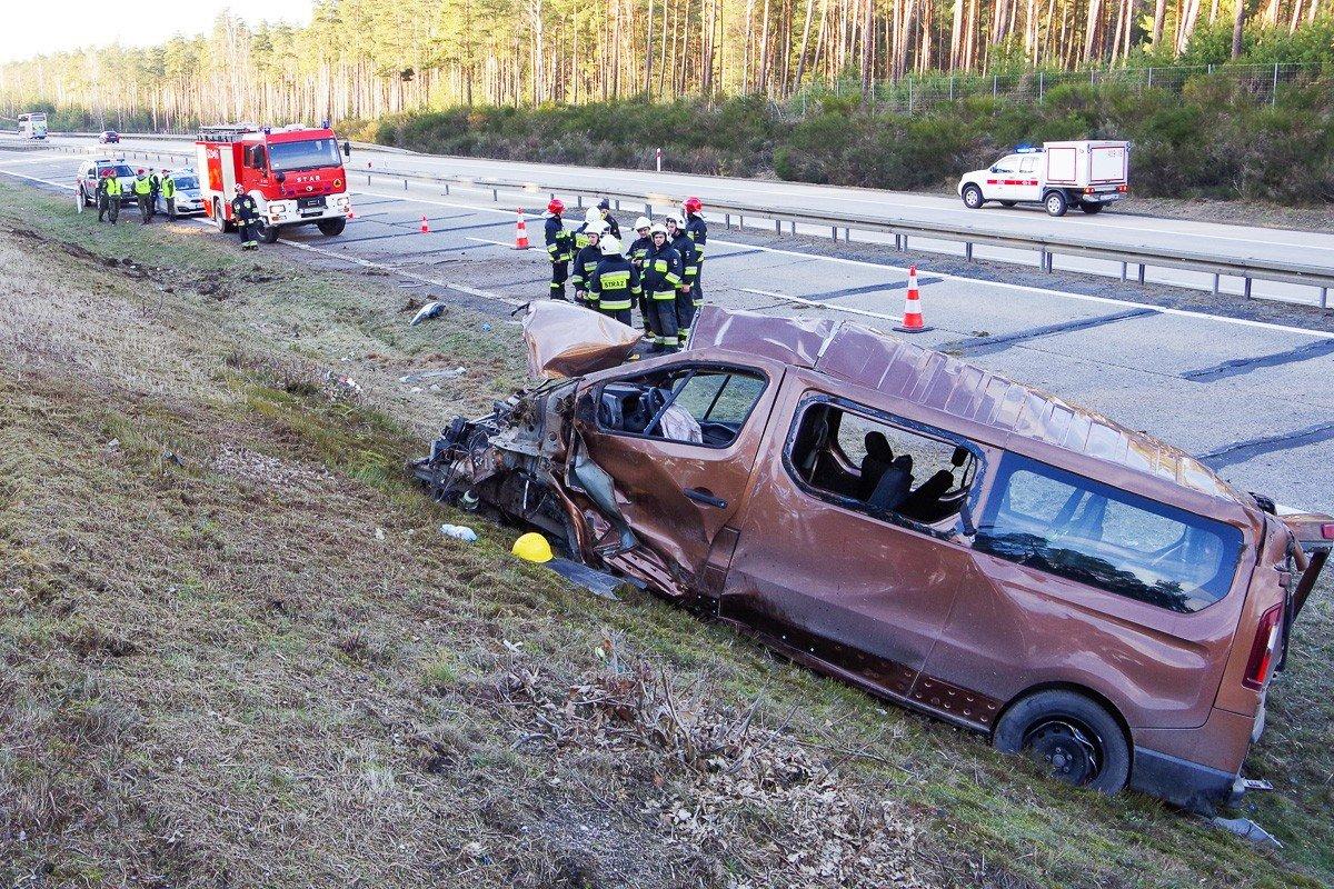 Wypadek na A18