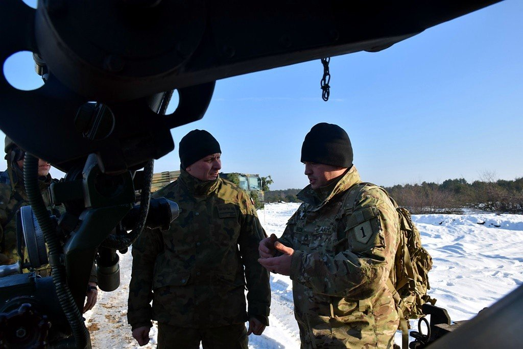 Bolesławieccy artylerzyści strzelają na toruńskim poligonie