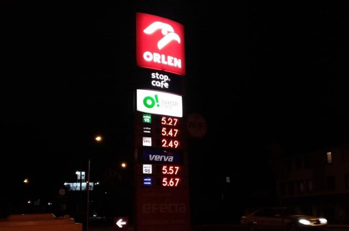 Ceny paliw na stacji PKN Orlen w Bolesławcu (25 marca 2019 roku).
