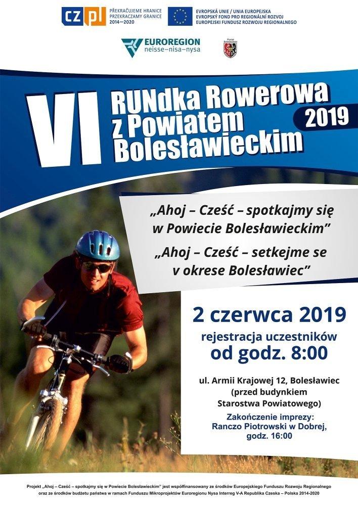 6 Rundka Rowerowa z Powiatem Bolesławieckim - plakat