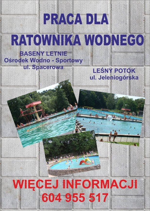 Praca dla ratownika wodnego - plakat