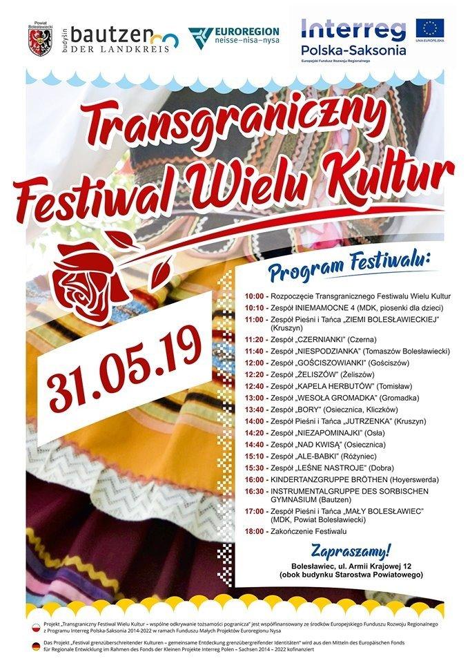 Plakat: Transgraniczny Festiwal Wielu Kultur