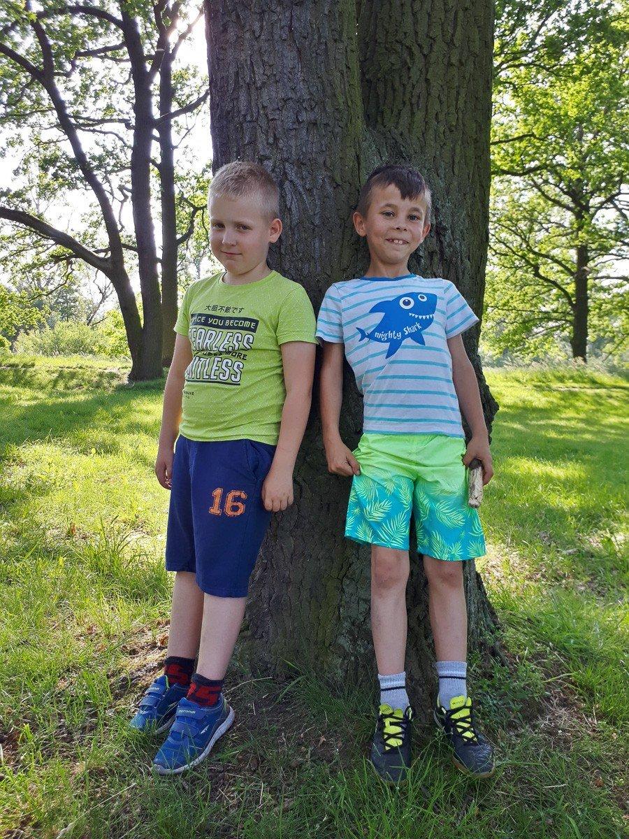 Od lewej: Dominik i Mateusz