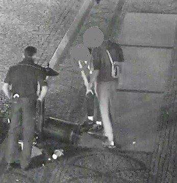Wyżył się na koszu na śmieci, interweniowała straż miejska i policja