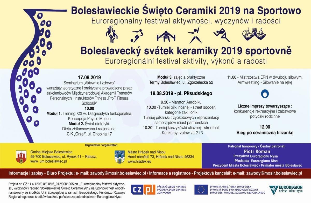 Plakat - Bolesławieckie Święto Ceramiki na sportowo