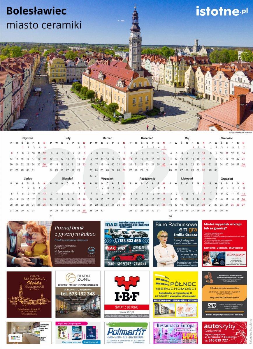 Darmowy kalendarz istotne.pl na 2020 rok