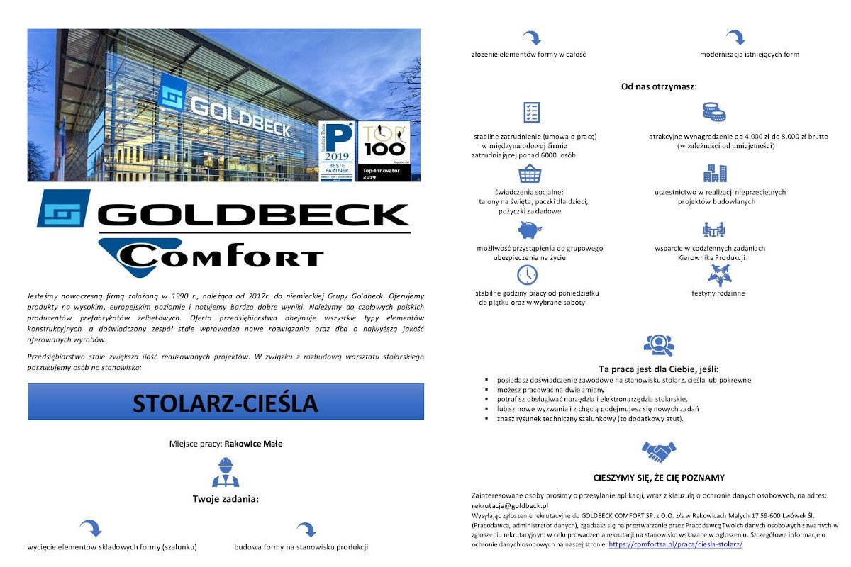 Oferta Pracy Goldbeck Comfort