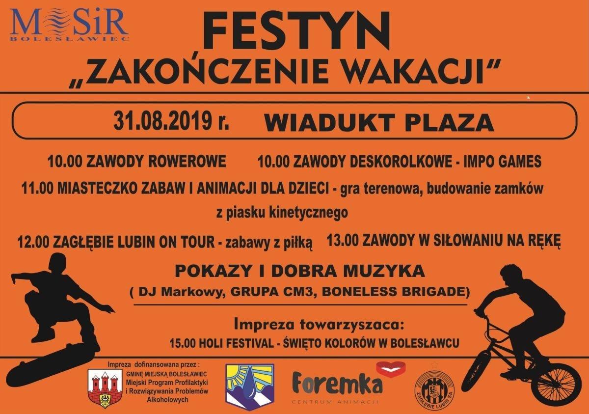 Plakat - Festyn Zakończenie Wakacji