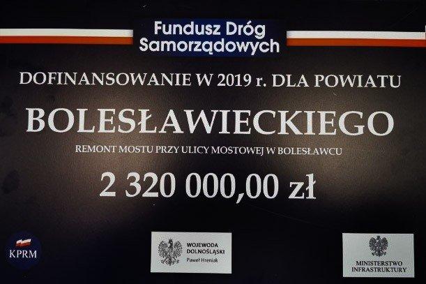 Promesa na dofinansowanie mostu przy ul. Mostowej