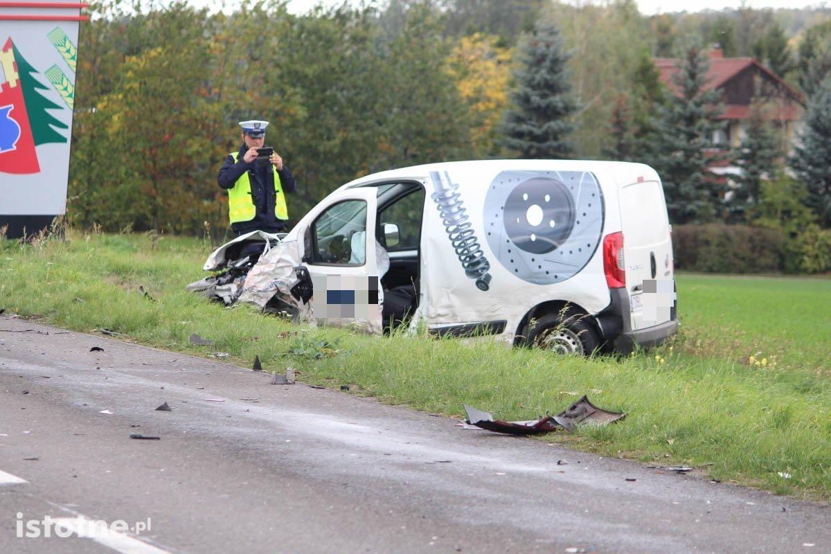 Pościg i wypadek koło Łazisk