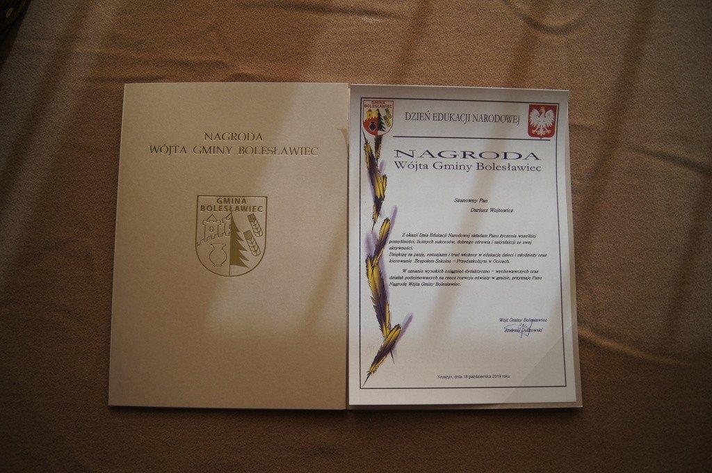 Nauczyciele z gminy Bolesławiec uhonorowani