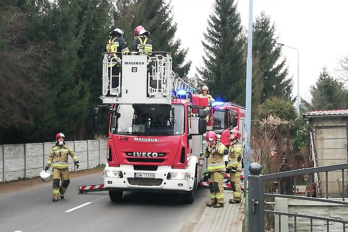 Akcja Straży Pożarnej w Gromadce