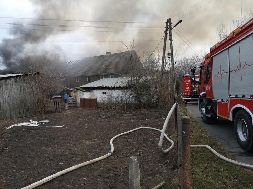 Spłonęła stodoła w Raciborowicach Górnych