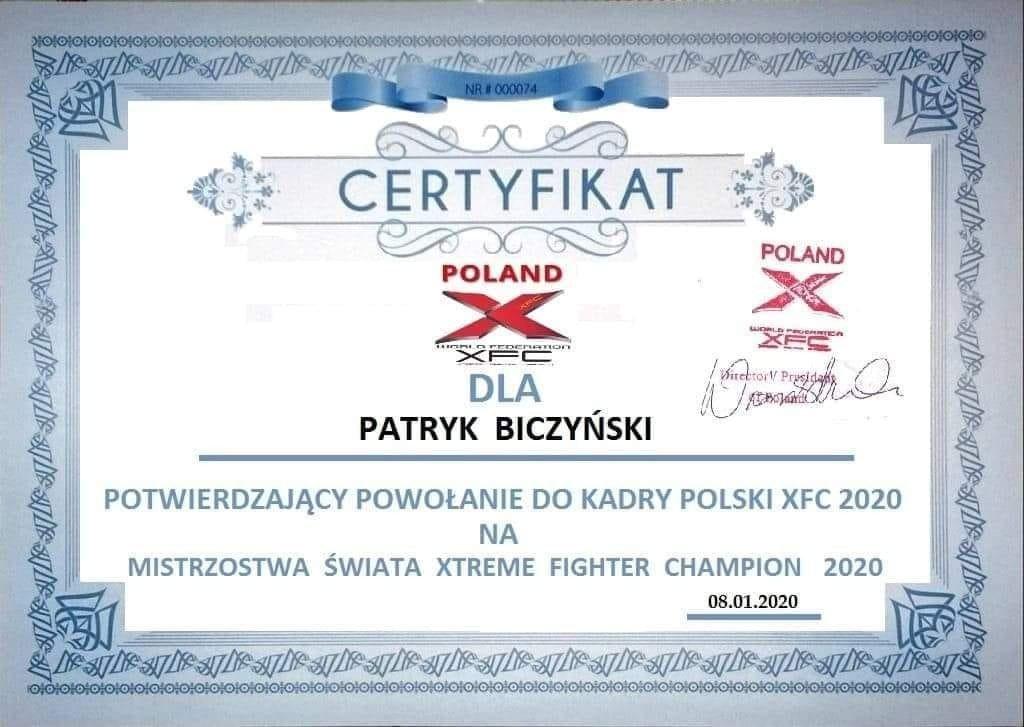 Certyfikat uczestnictwa i koszty udziału w mistrzostwach
