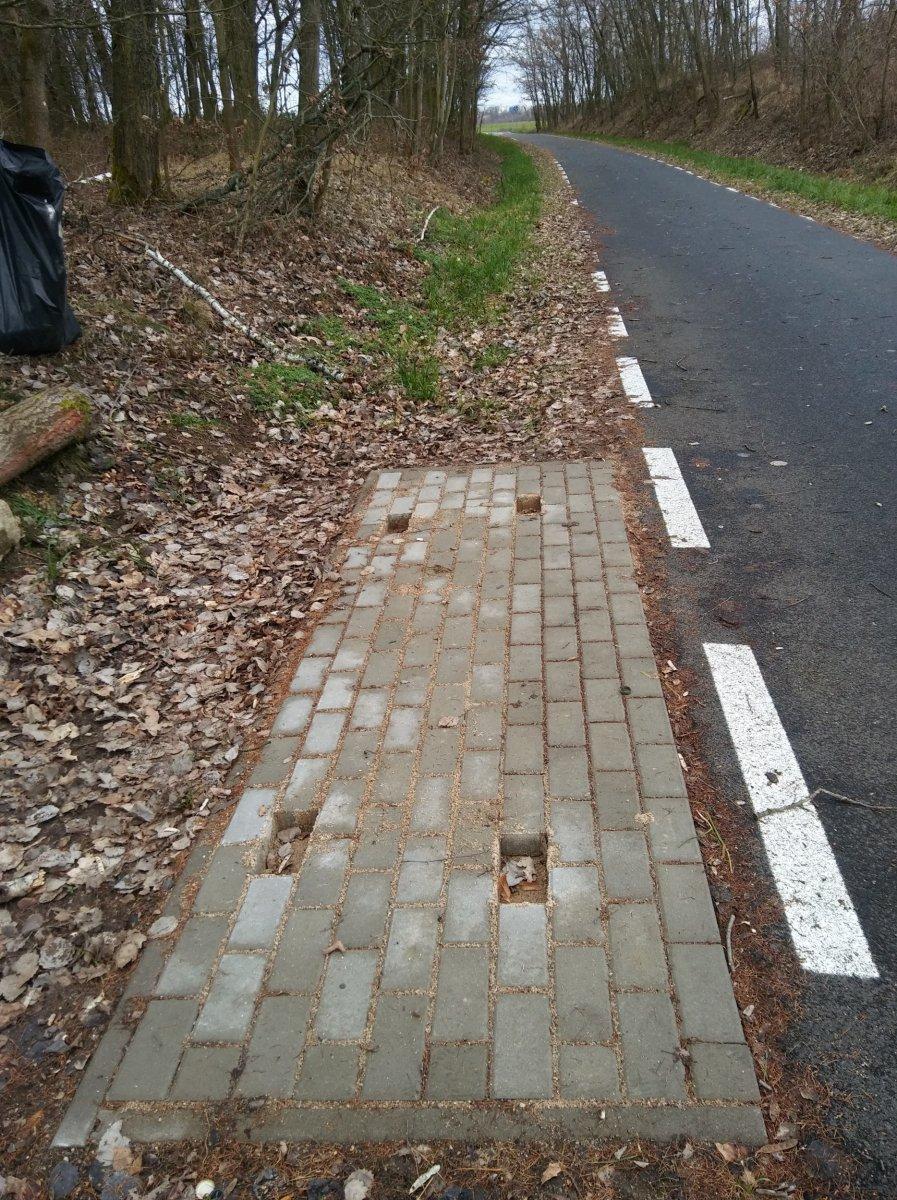 Czytelniczka: Przy ścieżce rowerowej między Wartą a Kruszynem była ławka...