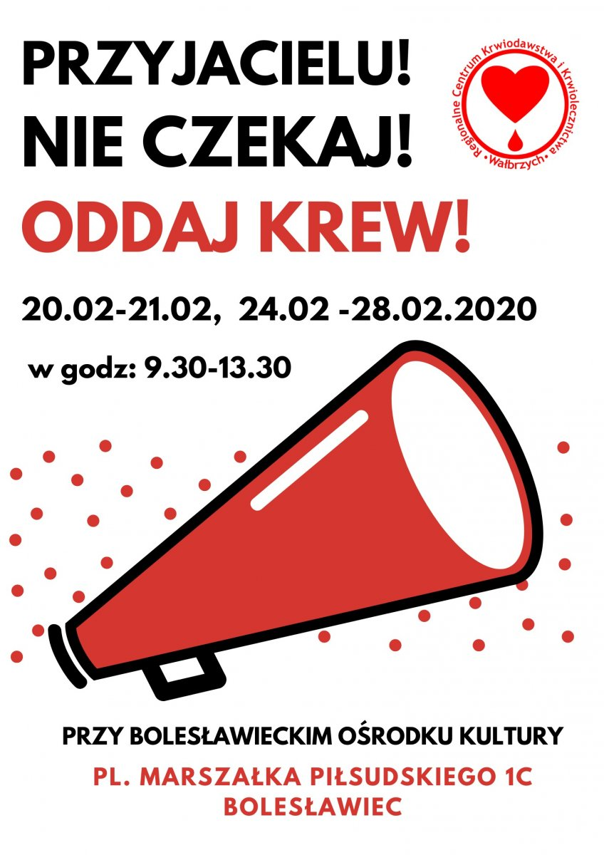 W Bolesławcu można będzie oddać krew