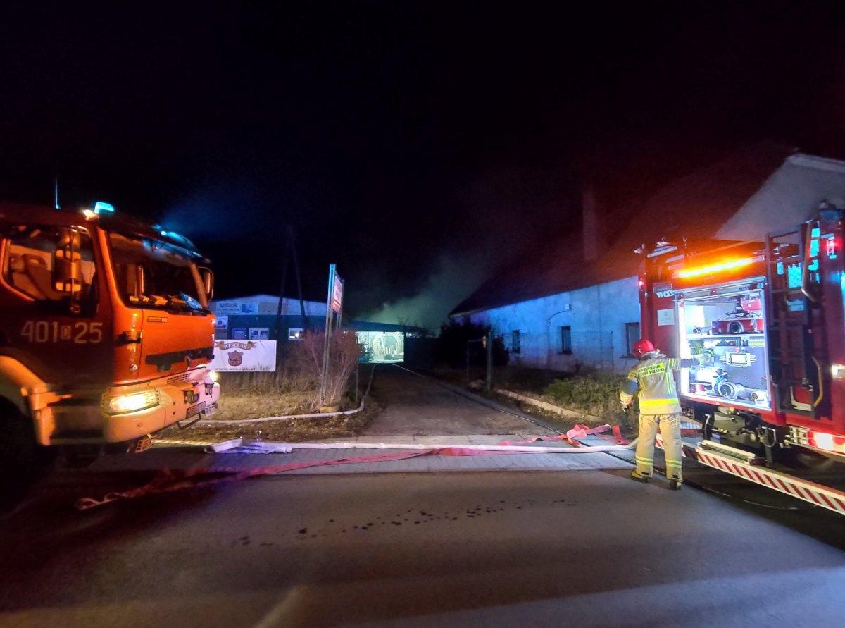 Pożar w stolarni w Bolesławicach