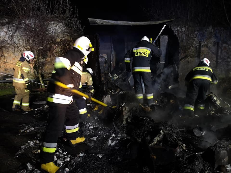 Pożar w Rakowicach. Strażacy uratowali pszczoły