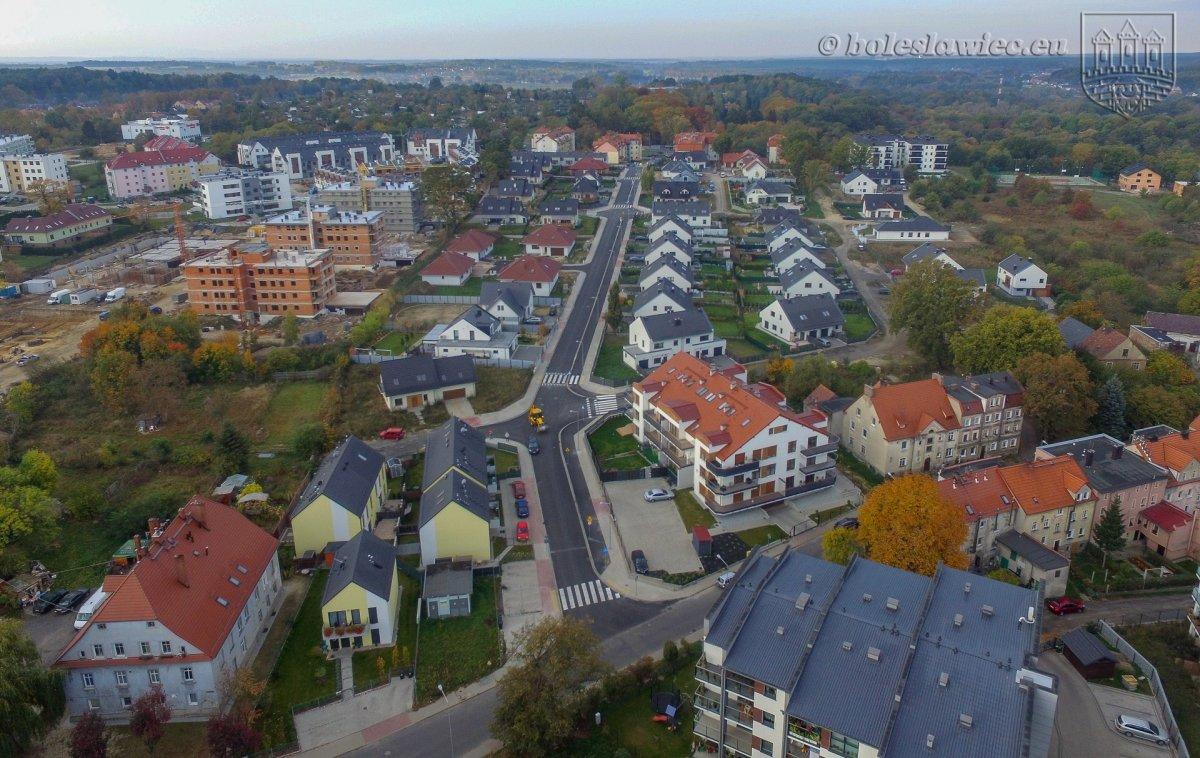Widok z lotu ptaka na Bolesławiec