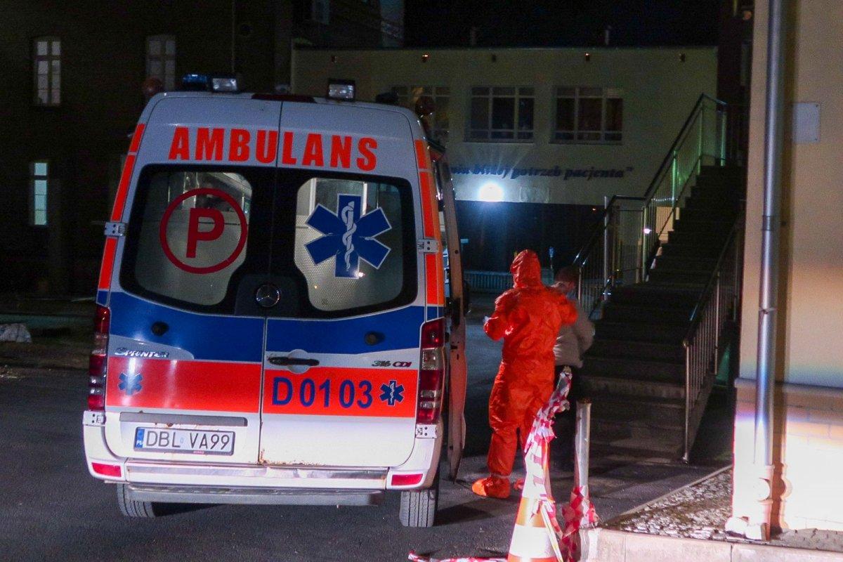 Przyjęcie pacjentów na oddział zakaźny w Bolesławcu