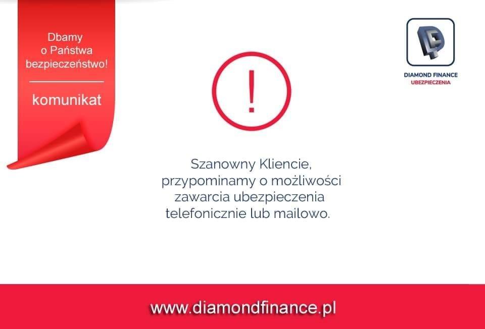 Informacja o ubezpieczeniach Diamond Finanse