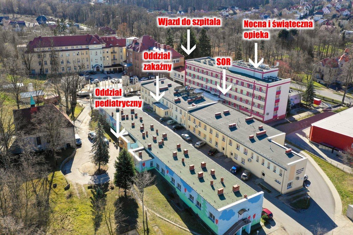 Budynki szpitala powiatowego