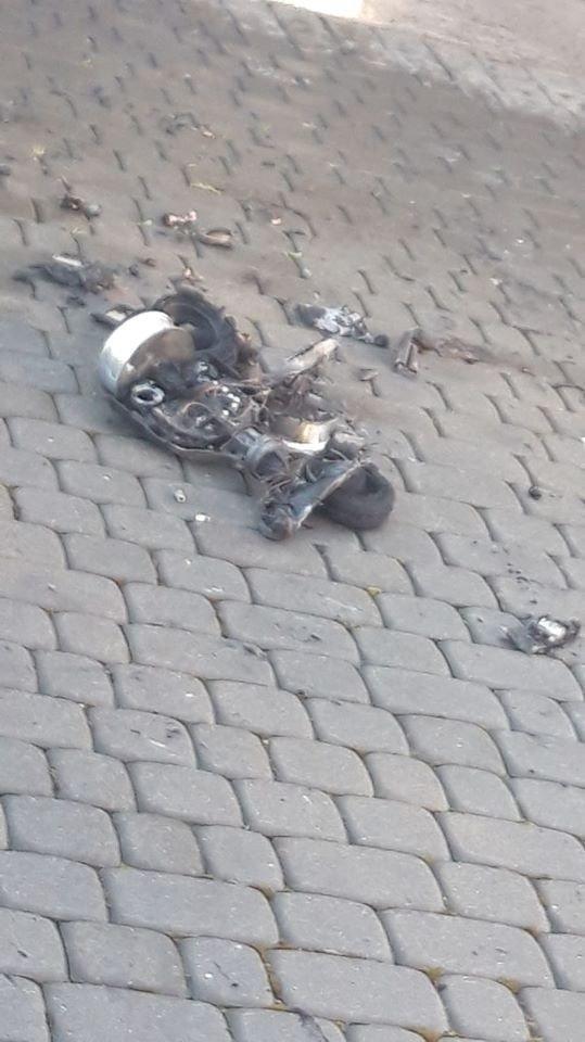 Pożar w Warcie Bolesławieckiej, spłonęła deskorolka