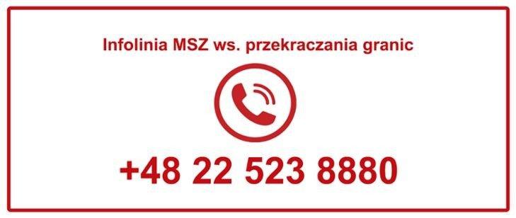 Nr infolinii dla osób chcących wrócić do Polski