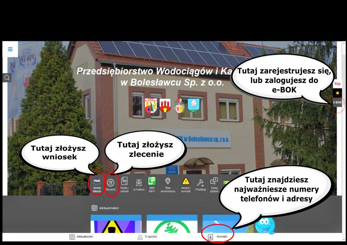 Instrukcacja korzystania ze strony PWiK w Bolesławcu
