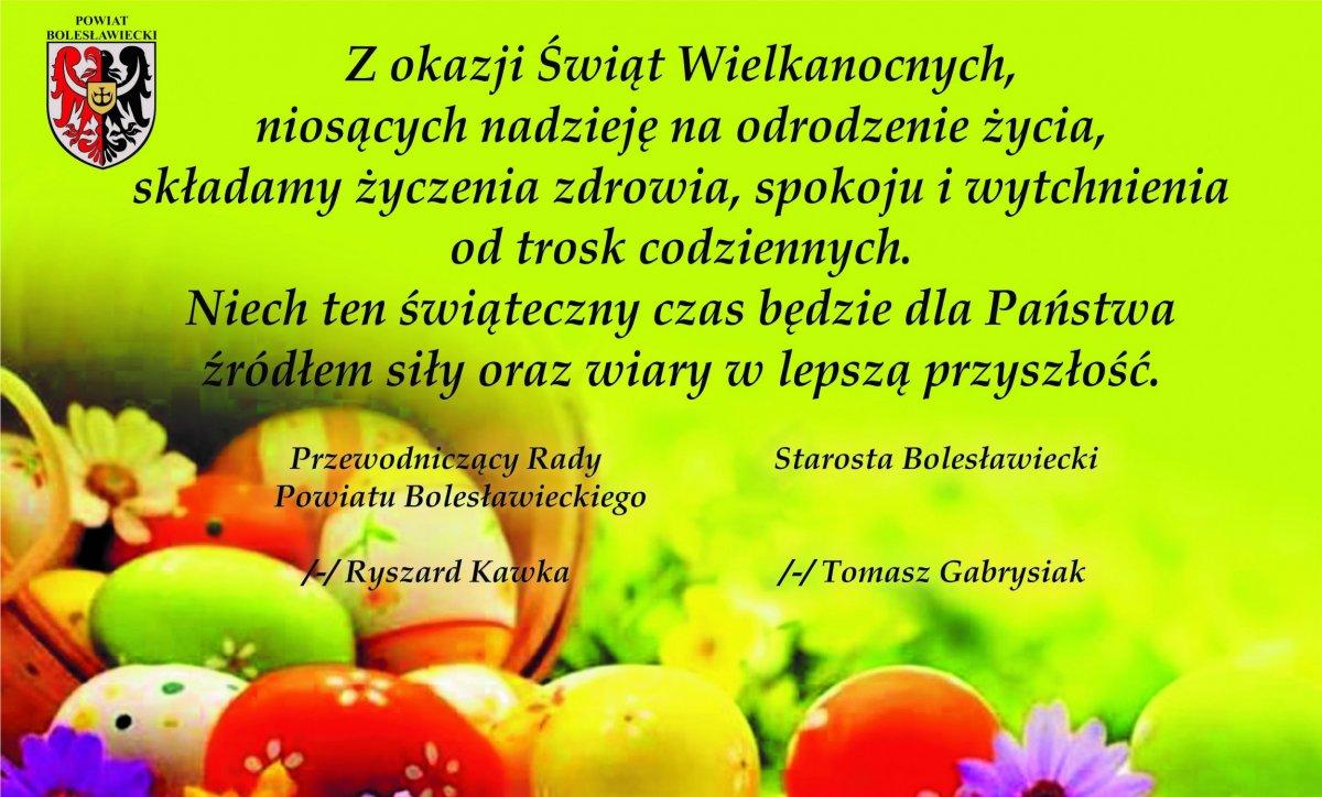 Życzenia świąteczne od Powiatu Bolesławieckiego