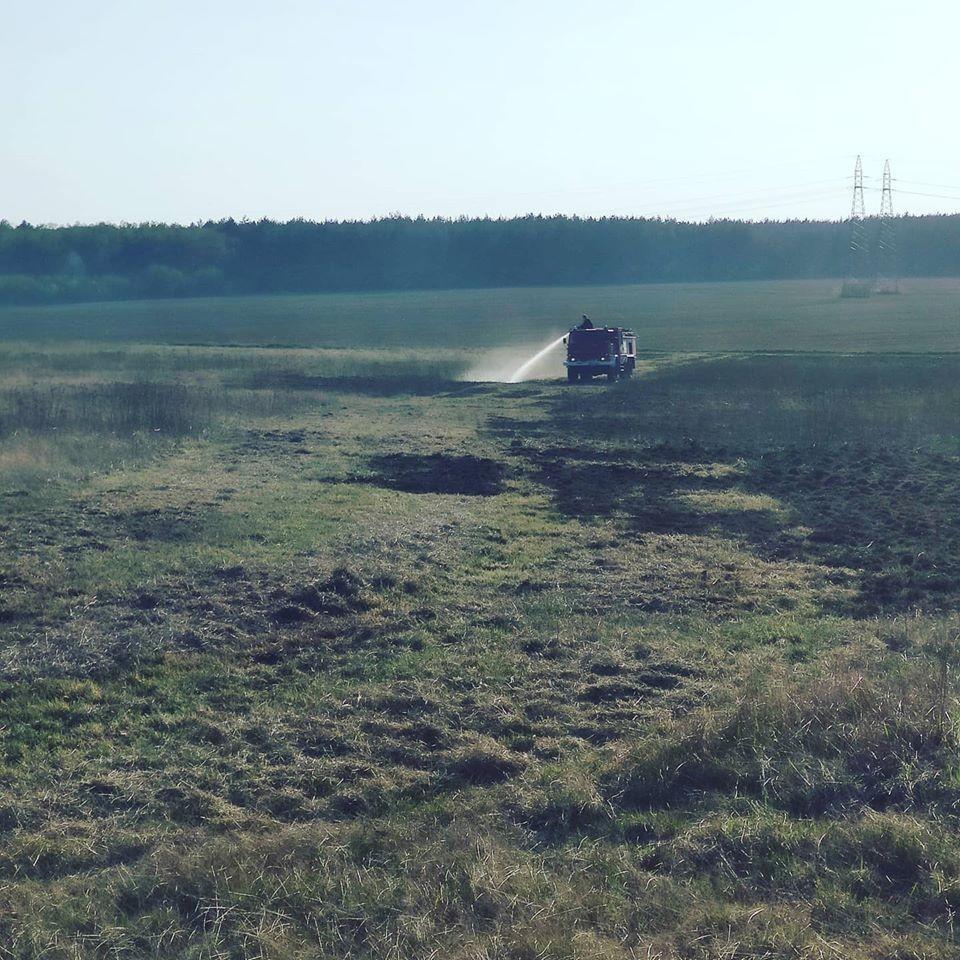 Akcja straży pożarnej w miejscowości Wykroty (gmina Nowogrodziec, powiat bolesławiecki)
