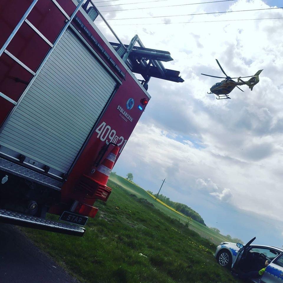 Mężczyzna potrącony przez traktor w Gościszowie