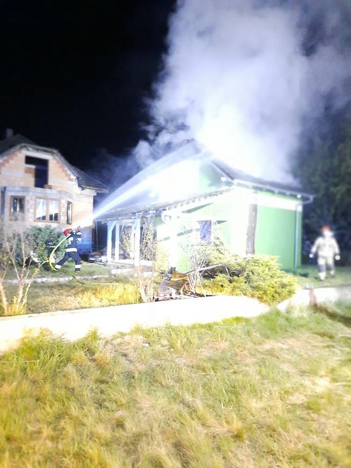 Akcja straży pożarnej w Kraśniku (gmina Bolesławiec)