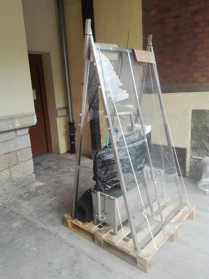 Kabina do dezynfekcji w szpitalu powiatowym w Bolesławcu