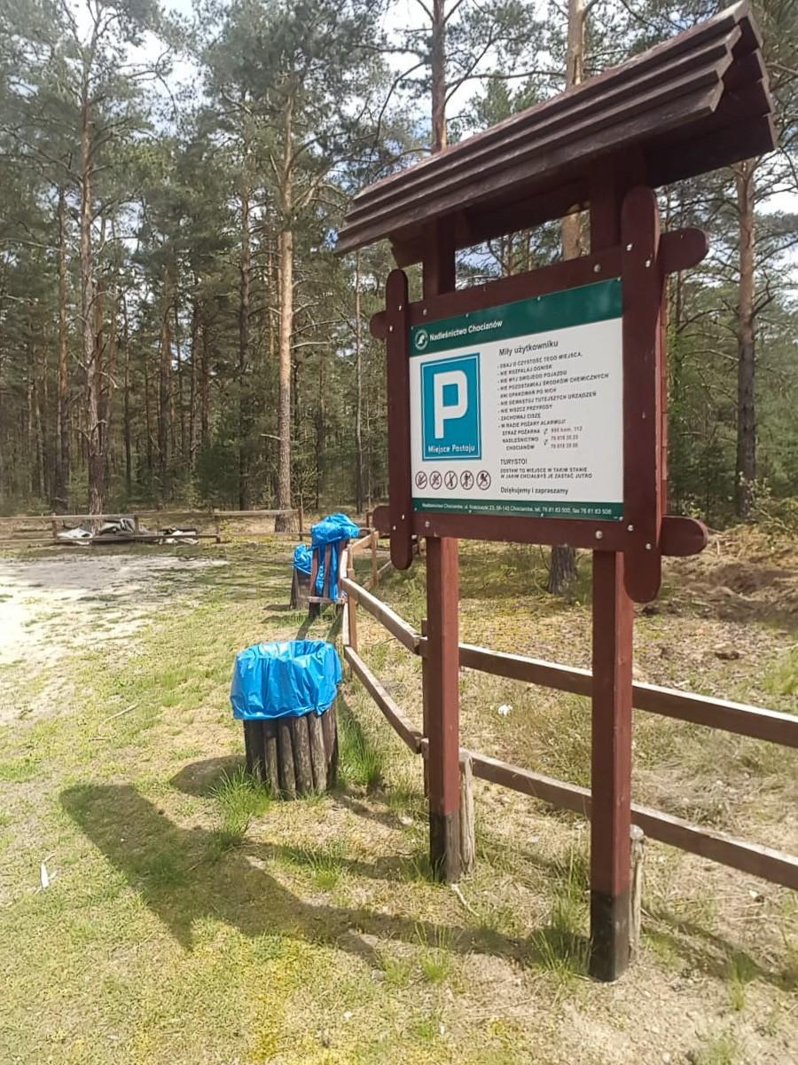 Dzikie wysypisko przy drodze 297, między Trzebieniem a Golnicami (gmina Bolesławiec)