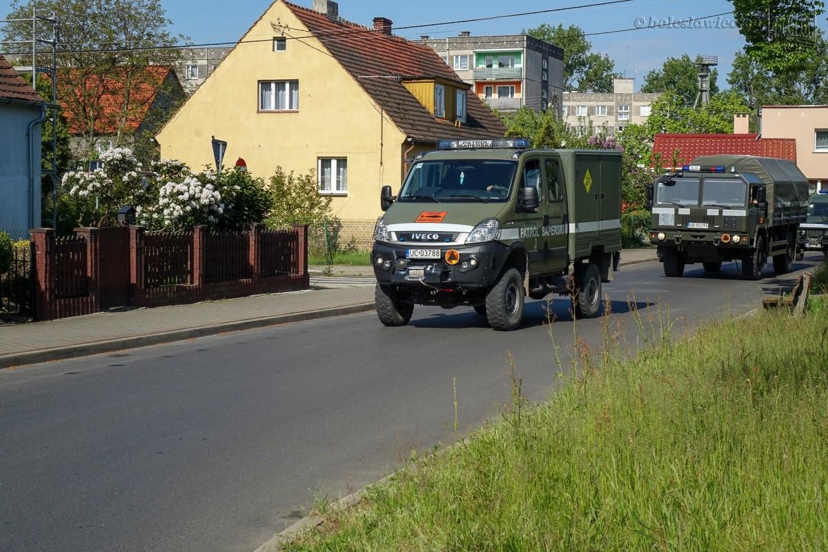 Akcja saperów przy ulicy Góralskiej w Bolesławcu