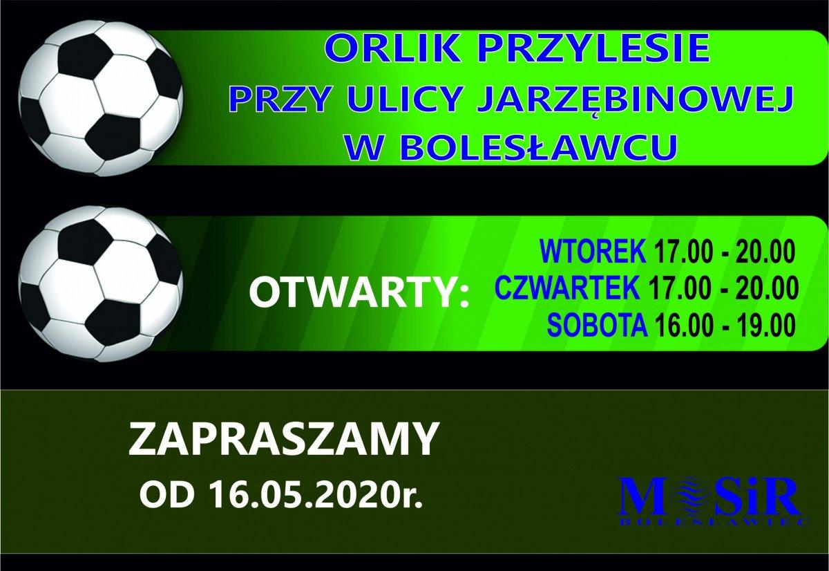 Grafika związana z Orlikiem na osiedlu Przylesie w Bolesławcu