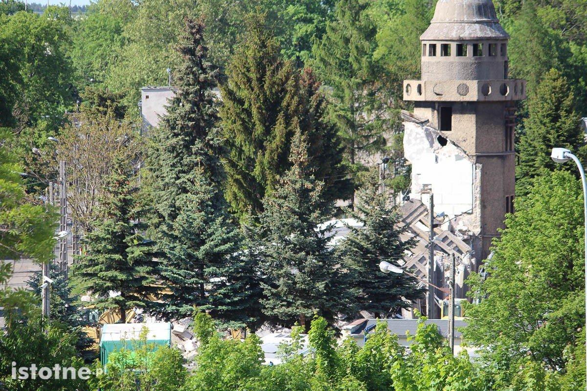 Wyburzanie budynków dawnego Bonitexu