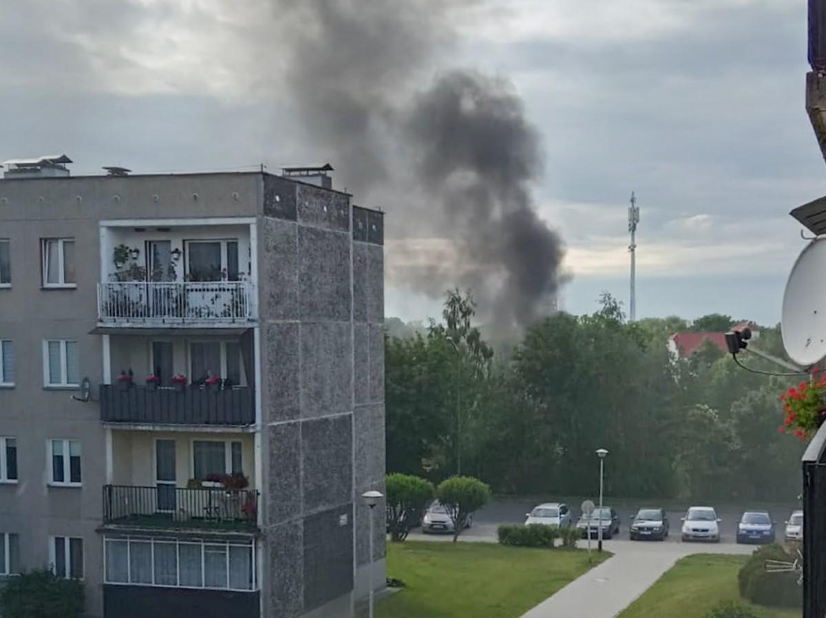 Pożar altany