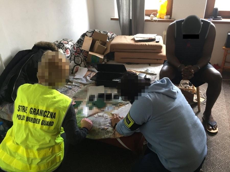 Oszuści z Nigerii zatrzymani przez straż graniczną i policję