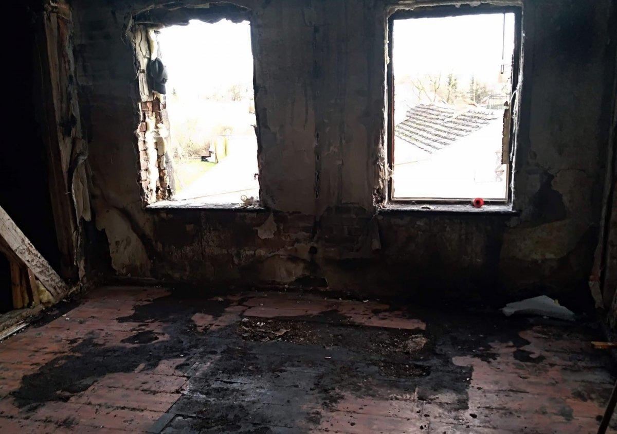 Spalony dom rodzinny Pani Anny