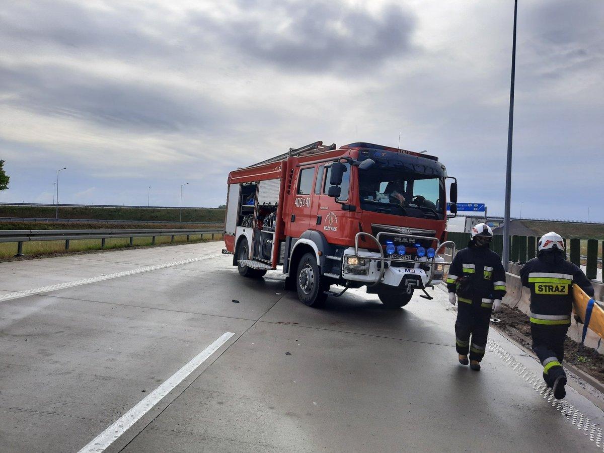 Wypadek na A4 – akcja służb z powiatu bolesławieckiego