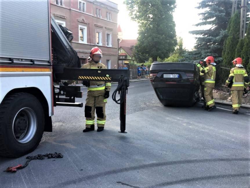 Dachowanie Mercedesa w Raciborowicach